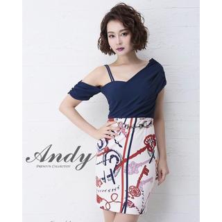 アンディ(Andy)のAndy キャバドレス Mサイズ ワンショルダー(ナイトドレス)