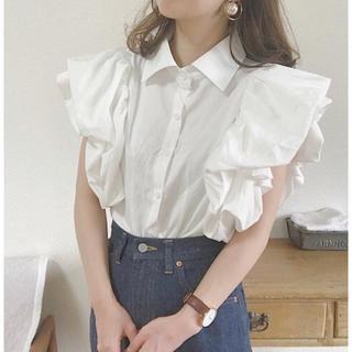 【Instagramで大人気!】ボリューム袖ブラウス(シャツ/ブラウス(半袖/袖なし))