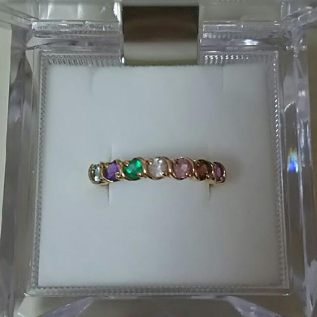 K18 アミュレット リング ルビー ガーネット ピンクサファイア  レディースのアクセサリー(リング(指輪))の商品写真