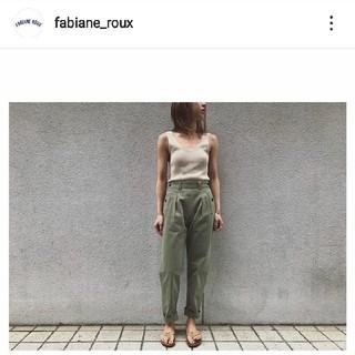ファビアンルー(Fabiane Roux)のnowos シルクタンクトップ(タンクトップ)