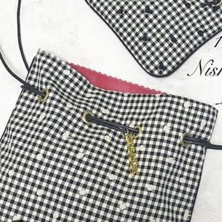 ドゥロワー(Drawer)のシャルマントサック♡チェック♡ドット♡ピンク♡ツイード(ショルダーバッグ)