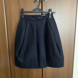 バーニーズニューヨーク(BARNEYS NEW YORK)のyokochan ウール スカート(ひざ丈スカート)