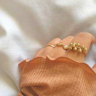 つぶつぶ ビーズリング(リング(指輪))