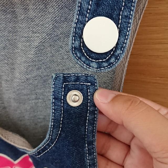 キッズ デニムジャンパースカート キッズ/ベビー/マタニティのキッズ服 女の子用(90cm~)(ワンピース)の商品写真