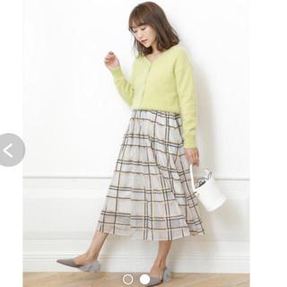 リランドチュール(Rirandture)のrirandture カラフルチェック刺繍チュールスカート(ロングスカート)