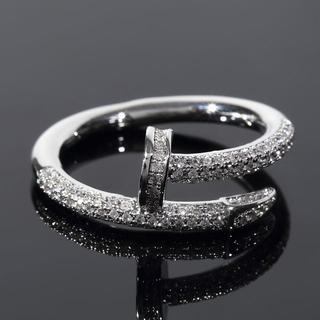 ネイル Nail デザイナーズリング 16号 ホワイトゴールド(リング(指輪))