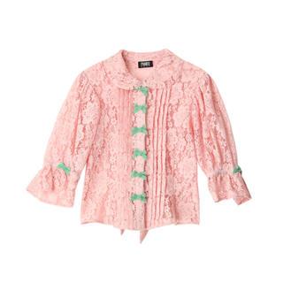 パメオポーズ(PAMEO POSE)のruban lace blouse ピンク(シャツ/ブラウス(半袖/袖なし))