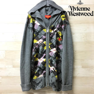 ヴィヴィアンウエストウッド(Vivienne Westwood)の【Vivienne Westwood】パーカー(M) ニット アーガイル(パーカー)