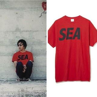 シュプリーム(Supreme)のキムタク着windandsea tシャツ赤(Tシャツ/カットソー(半袖/袖なし))