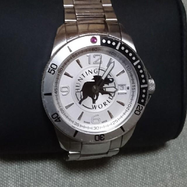 HUNTING WORLD - 稼働中 ハンティングワールド マウンテンストリーム メンズ腕時計の通販 by みゅ|ハンティングワールドならラクマ