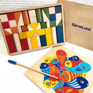 ボーネルンド(BorneLund)のボーネルンド 積み木 カラー 魚釣りゲーム パズル フィッシングパズル セット(積み木/ブロック)