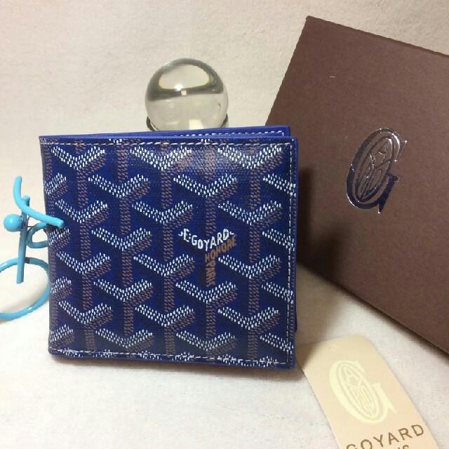 GOYARD - GOYARD ゴヤール 「サンフロランタン」 2つ折り 財布 ブルーの通販 by とみなが's shop|ゴヤールならラクマ