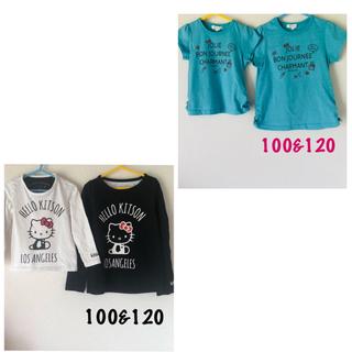 サンカンシオン(3can4on)のミニmini様専用♡ 姉妹お揃い Tシャツ 3can4on 100 120(Tシャツ/カットソー)