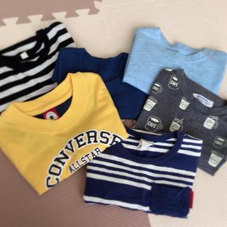 コンバース(CONVERSE)の男の子 100cm 6着セット(Tシャツ)(Tシャツ/カットソー)