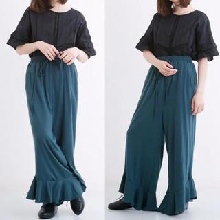 メルロー(merlot)のmerlot メルロー パンツ 裾フリル ドロストワイドパンツ スウェットパンツ(カジュアルパンツ)