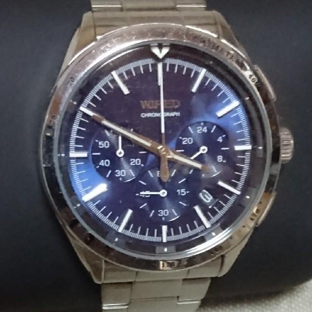 WIRED - 稼働中 セイコー ワイアード センタークロノグラフ 腕時計の通販 by みゅ|ワイアードならラクマ