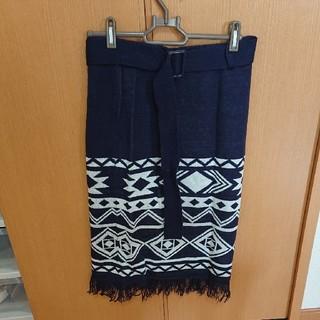 アズールバイマウジー(AZUL by moussy)の10月31に古着屋にもっていきます!おしゃれニットスカート(ひざ丈スカート)