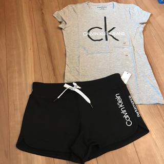 カルバンクライン(Calvin Klein)のカルバンクライン ルームウェア セットアップ ショートパンツ Tシャツ S(ルームウェア)