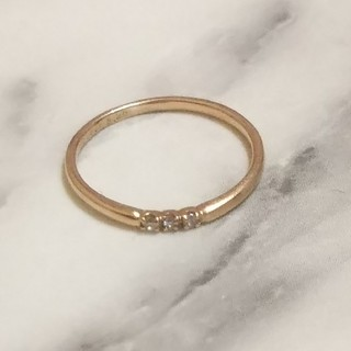 k18.華奢リング ピンクゴールド ダイヤモンド18金(リング(指輪))