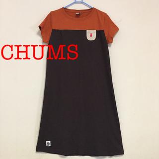 チャムス(CHUMS)のCHUMS 綿麻 Tワンピース Mサイズ(ひざ丈ワンピース)