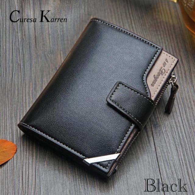 財布 二つ折り財布 レザー 札入れ 小銭入れ カード入れ 名刺入れ ブラックの通販 by りゅう's shop|ラクマ