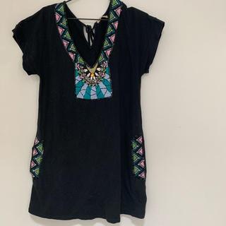 ローズバッド(ROSE BUD)のローズバッド 刺繍 ビーズ ワンピース トップス 半袖(Tシャツ(半袖/袖なし))