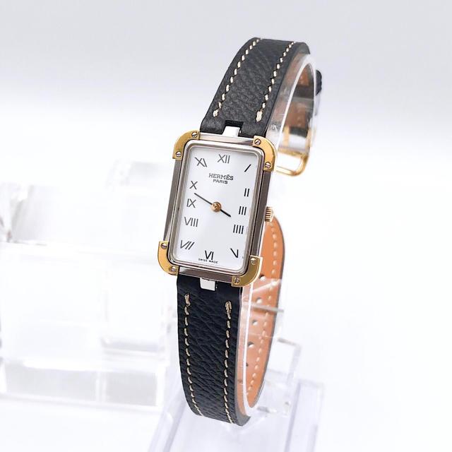 Hermes - 【仕上済/ベルト二色付】エルメス クロアジュール コンビ レディース 腕時計の通販 by LMC|エルメスならラクマ