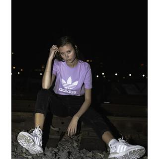 アディダス(adidas)の未使用🌟adidas originals トレフォイル Tシャツ パープル(Tシャツ(半袖/袖なし))