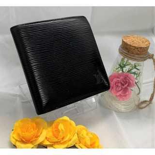LOUIS VUITTON - ♥美品♥ 【ルイヴィトン】 財布 折財布 二つ折り 黒 エピ ポルト の通販|ラクマ