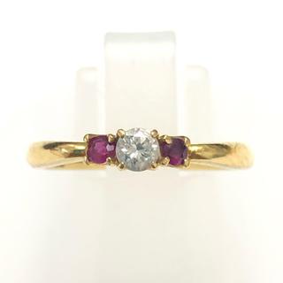 リング ルビー ダイヤモンド  k18yg 18金 イエローゴールド 指輪(リング(指輪))