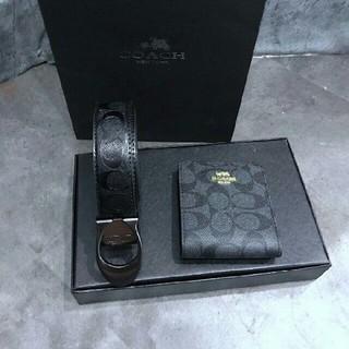 COACH - お勧めCOACH コーチ ベルト+折り財布 セット メンズ