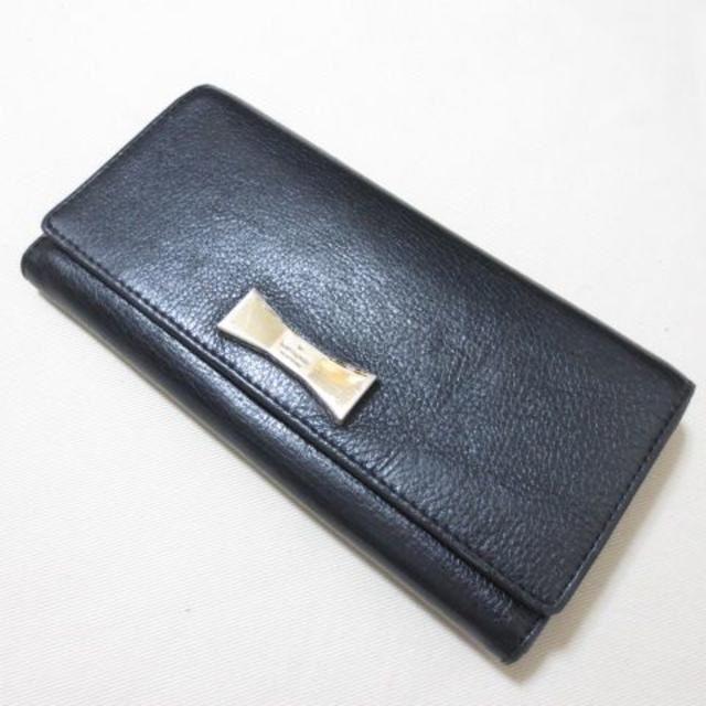 kate spade new york - ケイトスペード ブラック 長財布 リボン レザー K792の通販 by パオ's SHOP|ケイトスペードニューヨークならラクマ