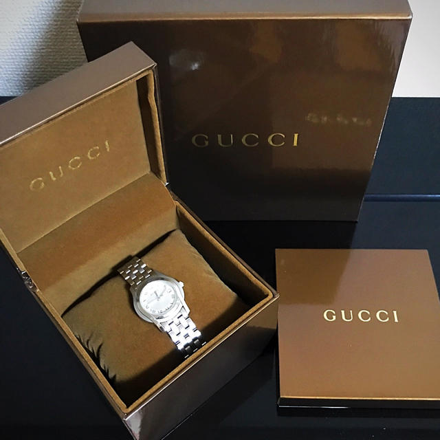 Gucci - GUCCI グッチ 5500L クォーツ レディース シルバー文字盤 稼働品の通販 by    mamepome|グッチならラクマ