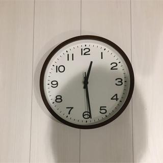 ムジルシリョウヒン(MUJI (無印良品))の無印良品 壁掛けアナログ時計 ブナ材 ダークブラウン・大(掛時計/柱時計)
