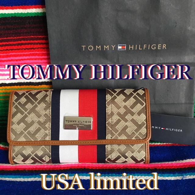 TOMMY HILFIGER - TOMMYHILFIGERトミーヒルフィガー海外仕様限定スナップウォレット長財布の通販 by happyhappy's shop|トミーヒルフィガーならラクマ