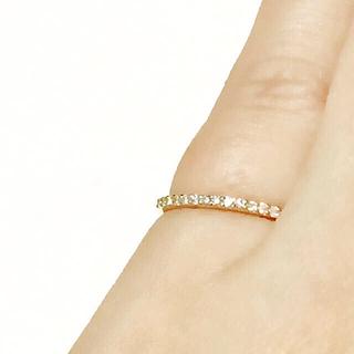 K18 ダイヤハーフエタニティリング(リング(指輪))