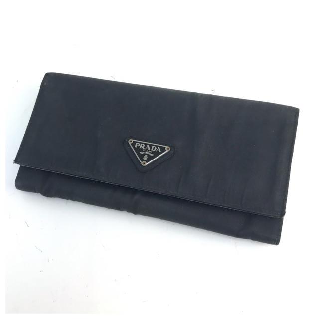 PRADA - ❤️セール❤️ PRADA プラダ 二つ折り長財布 ブラック カード×4の通販 by 即購入ok ブランドショップ's shop|プラダならラクマ