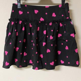 バービー(Barbie)の【新品未使用】Barbie バービー ハート柄ミニスカート(ミニスカート)