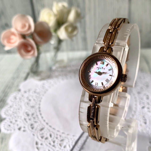 agete - 【動作OK】agete アガット 腕時計 ピンクゴールド ソーラーの通販 by soga's shop|アガットならラクマ