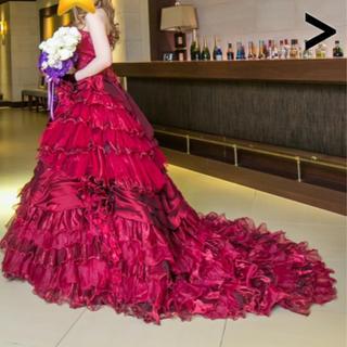 ウエディングドレス    カラードレス  ワインレッド(ウェディングドレス)