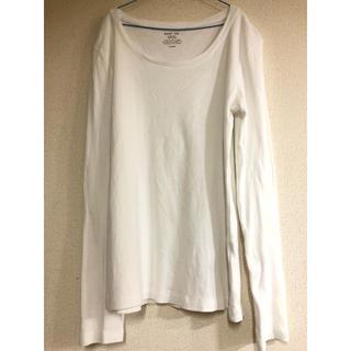 ジーユー(GU)のGU クルーネックT オフホワイト(Tシャツ(長袖/七分))
