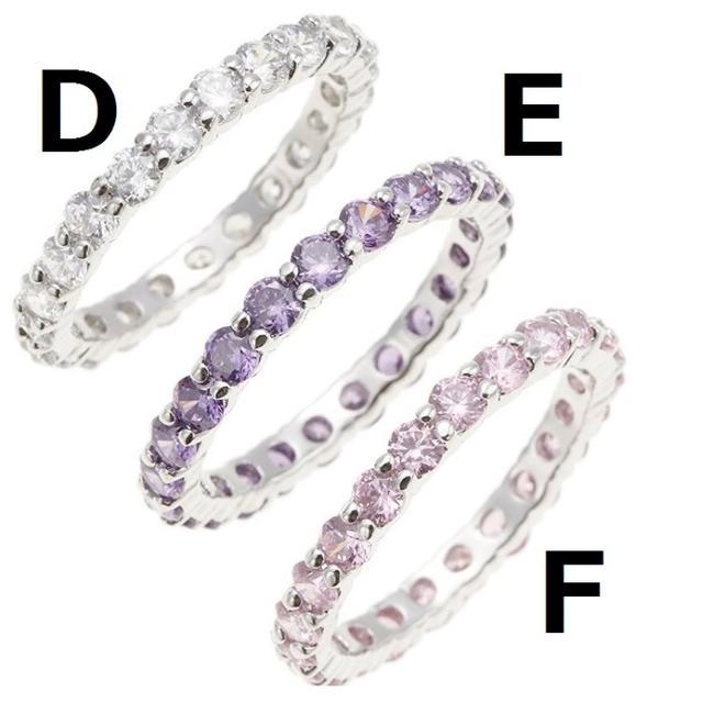 ★選べる9色★ 指輪 フルエタニティ シルバークリア 13号 他カラー・サイズ有 レディースのアクセサリー(リング(指輪))の商品写真