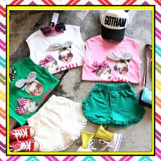 子供服 プリント Tシャツ 女の子 (Tシャツ/カットソー)