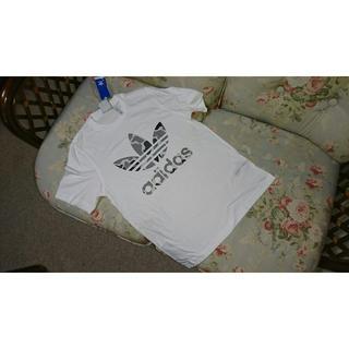 アディダス(adidas)の新品☆アディダス オリジナルス adidas  Tシャツ 白 カモフラ  L(Tシャツ/カットソー(半袖/袖なし))