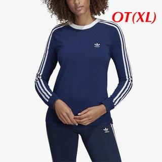 アディダス(adidas)の【レディースOT】ネイビー  3ストライプ ロングスリーブTシャツ(Tシャツ(長袖/七分))