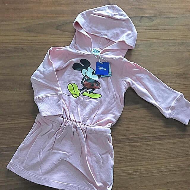 BREEZE(ブリーズ)のブリーズ ミッキー ワンピース キッズ/ベビー/マタニティのベビー服(~85cm)(ワンピース)の商品写真