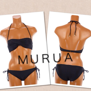 ムルーア(MURUA)のMURUAフロントクロスバンドゥービキニ(水着)