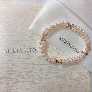 ミキモト(MIKIMOTO)のミキモト 金具 K14 2連パール ブレスレット(ブレスレット/バングル)