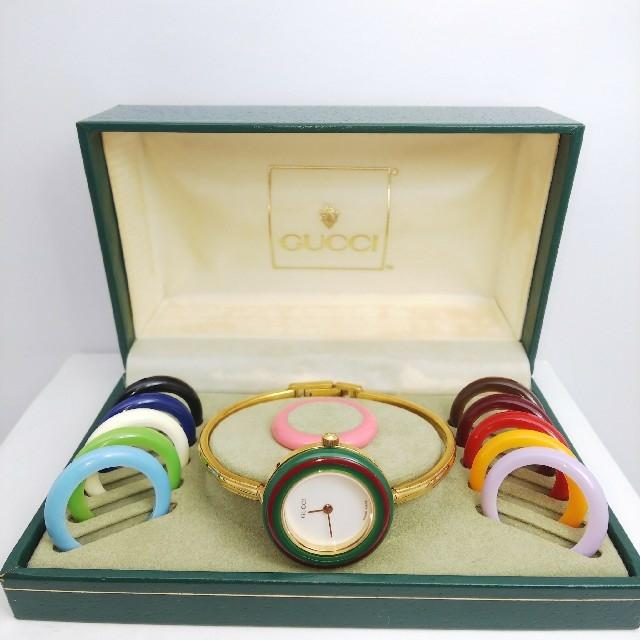 Gucci - GUCCI 腕時計 チェンジベゼル 稼働中 t111の通販 by ティファ's shop|グッチならラクマ