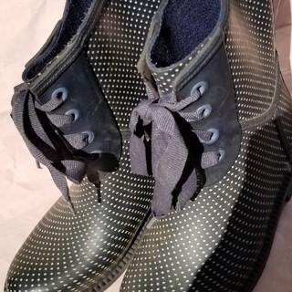 ZARA 長靴 かわいい水玉 リボン付き19-19.5cm